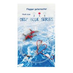 Deep Blue Flapper Rig 3-Haaks