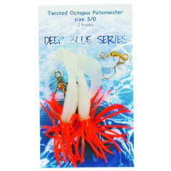 Deep Blue Twisted Octopus Octopus Lum-Red 2-Haaks