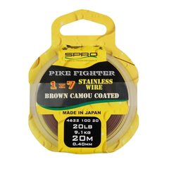 Spro Pike Fighter Brown Coated Wire 1x7