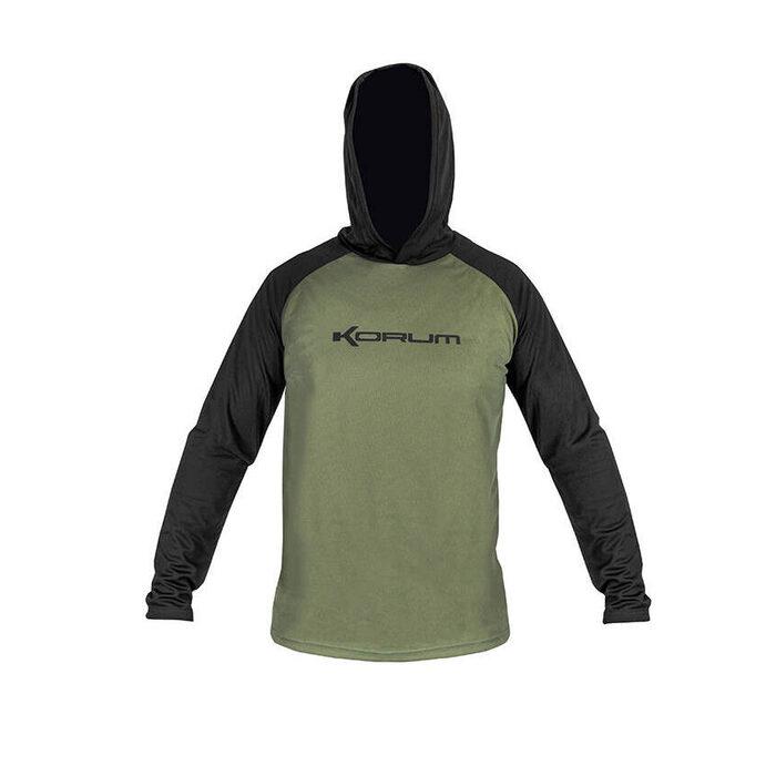 Korum Hooded Dri - Active Long Sleeve Shirt Xxxl