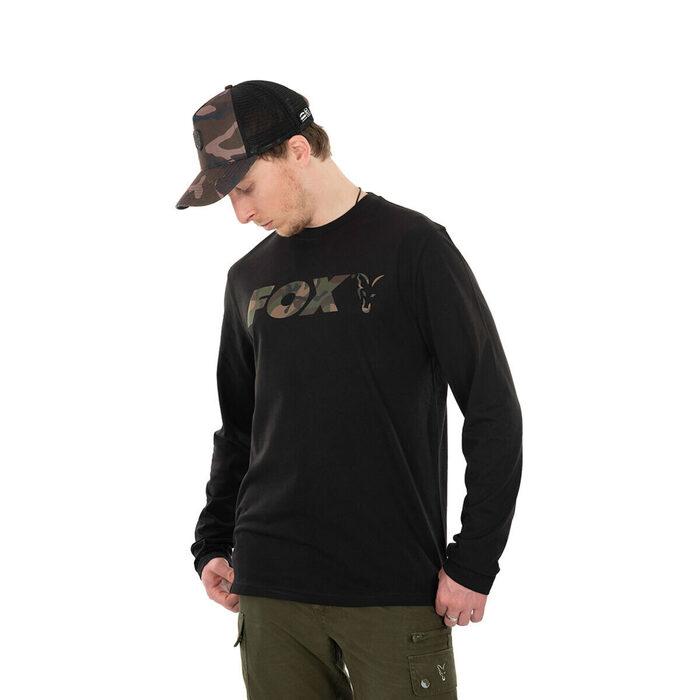 Fox Black Camo Long Sleeve T-Shirt S